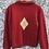 Gilet vintage rouge à motif unique