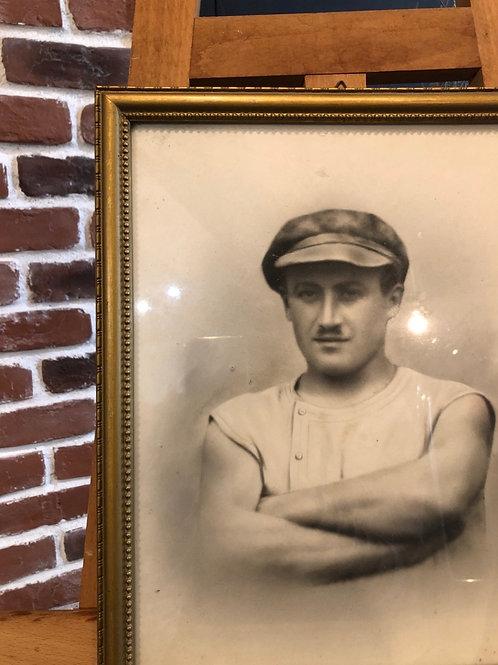 Photographie d'un ouvrier messin vintage