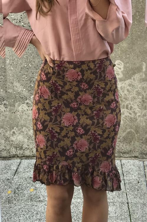 Jupe fleurie vintage