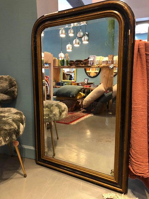 miroir napoléon 3 en noir et doré