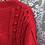 Pull en laine rouge vintage