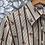 Chemise vintage à rayures et motif