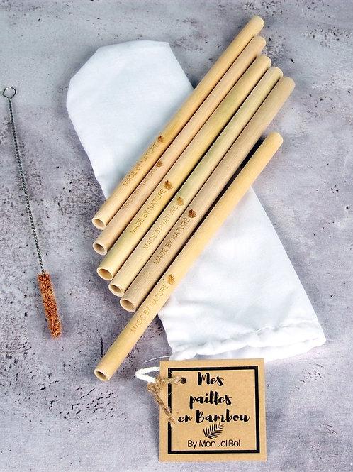 Pailles en bambou Monjolibol