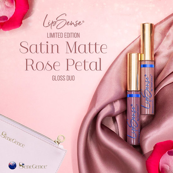 Limited Edition Satin Matte Rose Petal Gloss Duo
