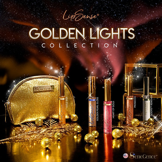 Limited Edition Golden Lights LipSense Collection with FREE Ooops Remover