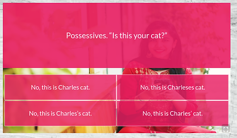 Free online English quiz.