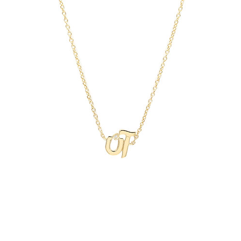Necklace with Two Letters- Plain