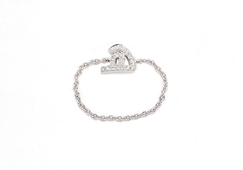 One Letter Chain Ring