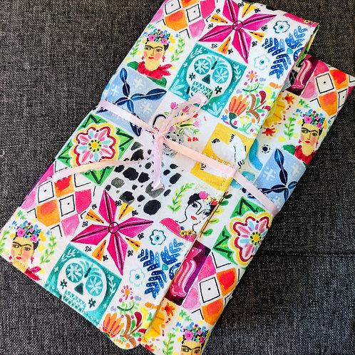 Notebook & Pen Holder: Mexican Tiles