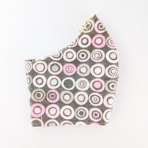 Grey + Pink Circle Mask
