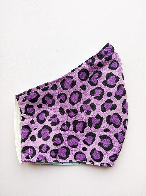 Purple Leopard Print Mask