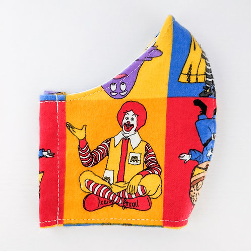 Vintage McDonald's Print Mask