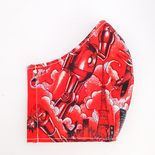 Red Robots Mask