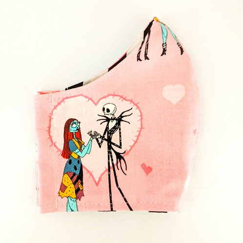 Jack & Sally Pink Mask