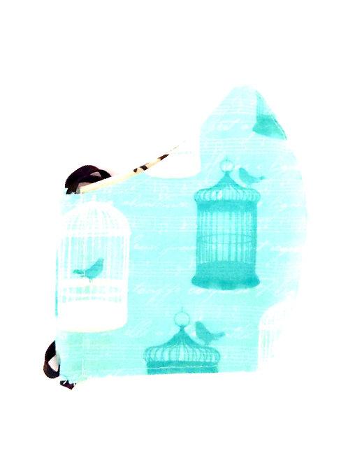 Teal Bird Song Mask