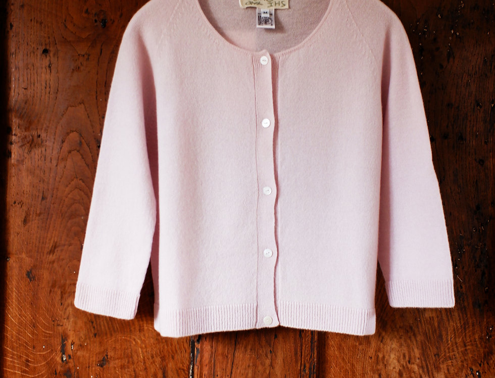 Pale Pink Cashmere Cardigan