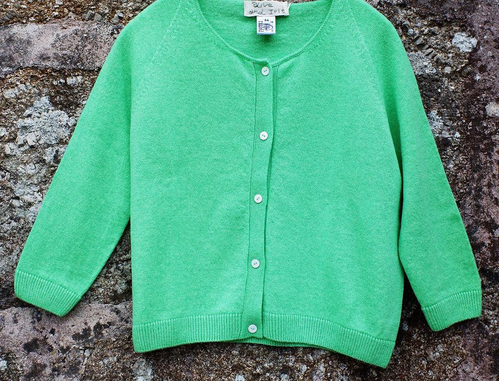 Emerald Cashmere Cardigan