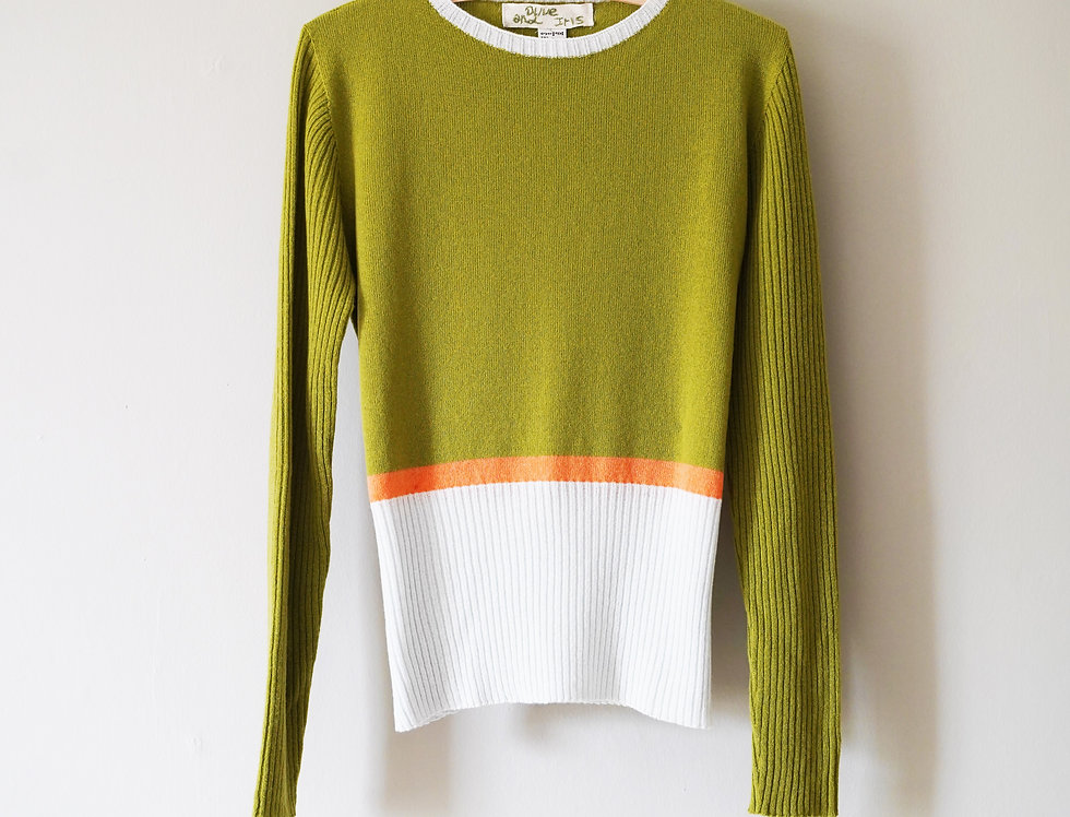 Olive Green Classic Round Neck Jumper
