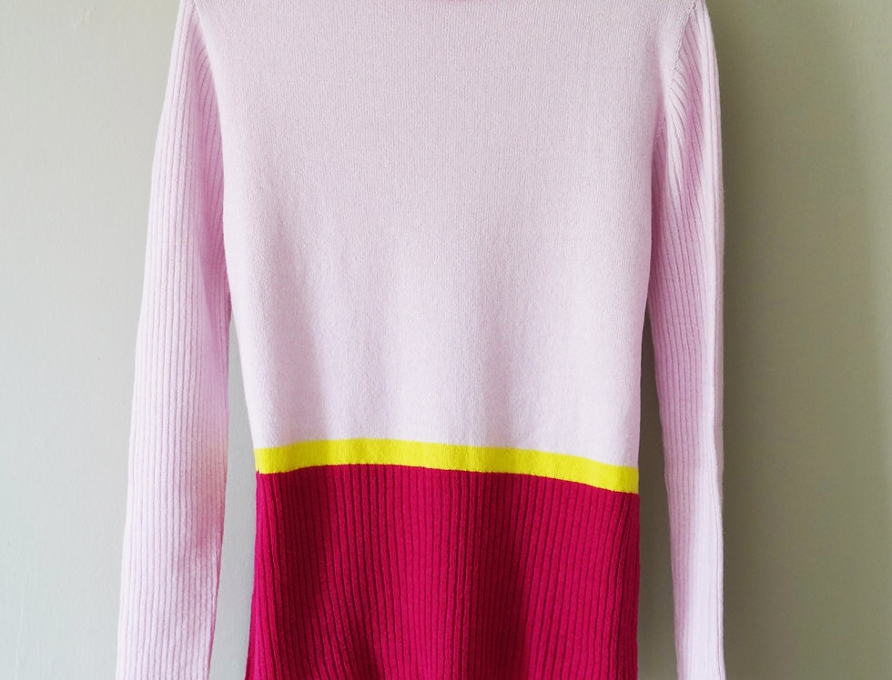 Pale Pink Classic Round Neck Jumper