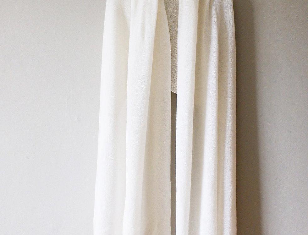 Soft White Cashmere Shawl