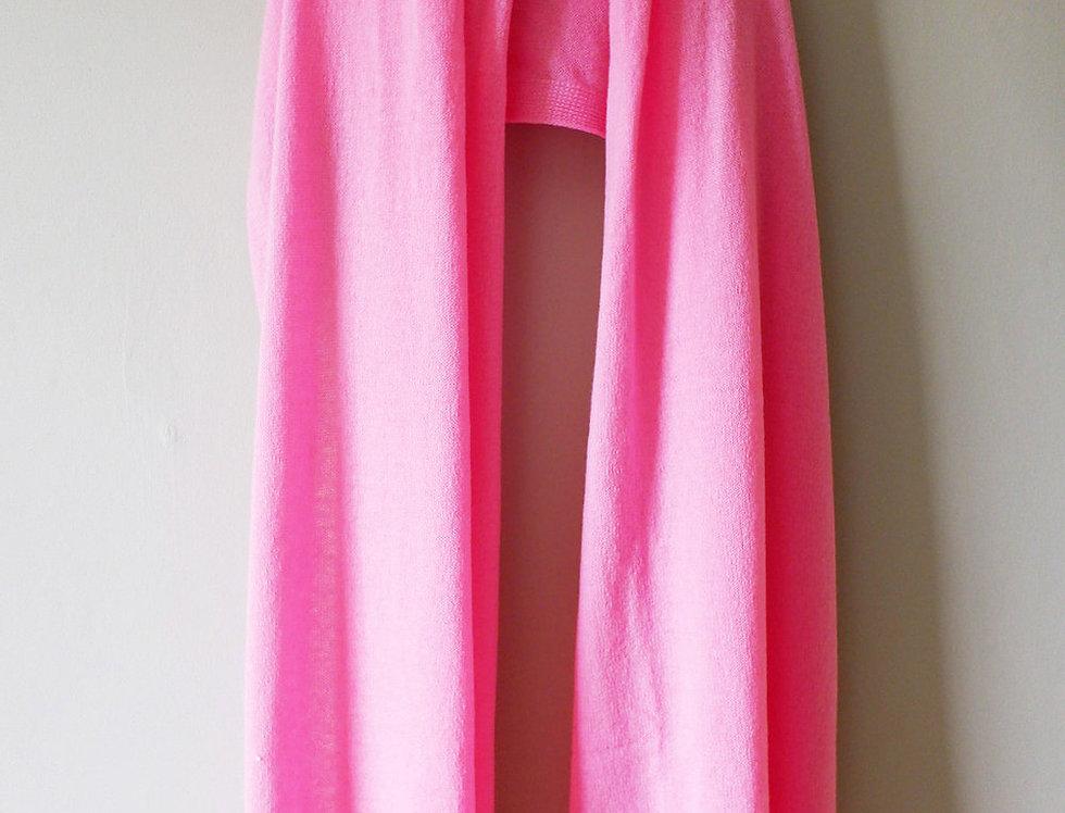 Chiffon Pink Cashmere Shawl