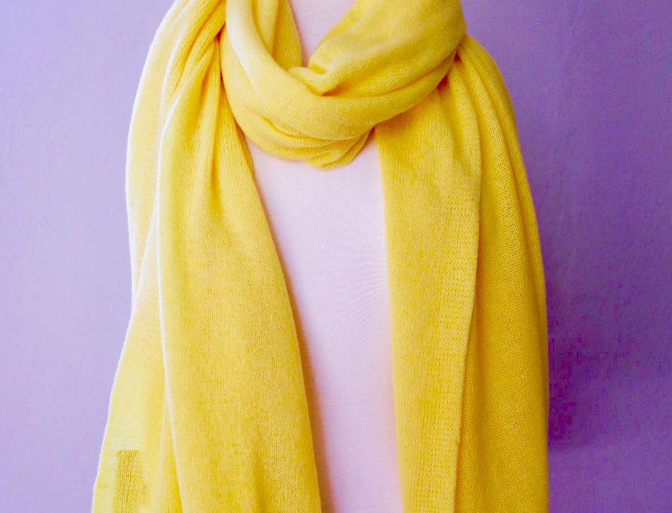 Large Yellow Cashmere Shawl