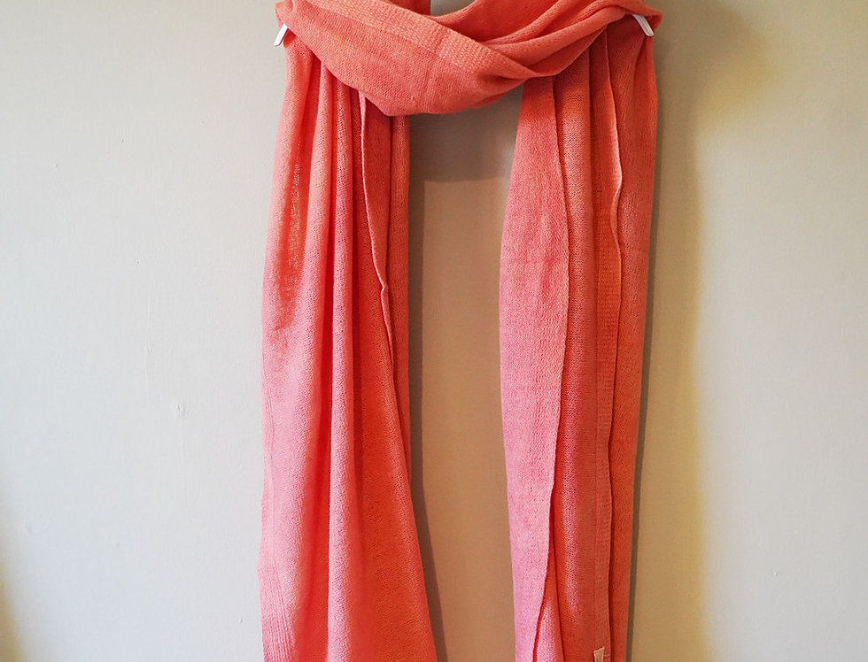 Large Cashmere Shawl - Hand Dyed with Natural Madder