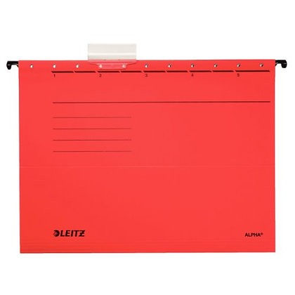 Esselte Leitz 19853025 Lot of 5 hanging files in Alpha cardboard (Red) (Impo