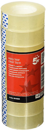 5 Star Transparent tear tape by hand Polypropylene 40 microns 1