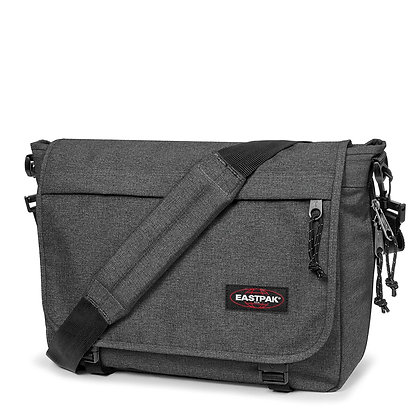 Eastpak Delegate Shoulder Bag, 38 cm, 20 L, Black (Denim Black)