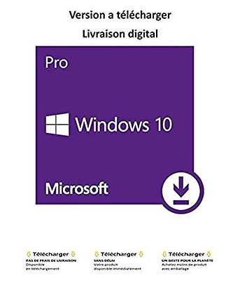 Windows 10 professional 32/64 bit - 1 estación de trabajo - SOLO CLAVE DE ACTIVACIÓN - Pr