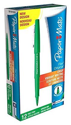 Paper Mate - S0191033 - Flair Original Pen - Fieltro con punta de nylon - Juego de 12