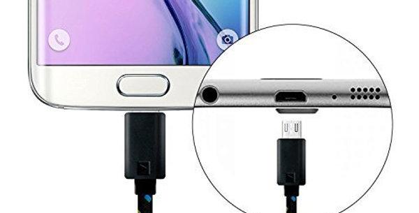 Câbles Micro USB 2 m │Chargeur Câble en nylon tissé couleur bonbon USB p