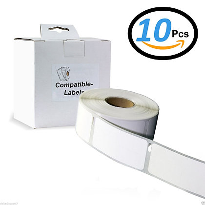 10 X 11356 / S0722560 Rouleau papier étiquette ( 41mm x 89mm ) Compatible Avec D
