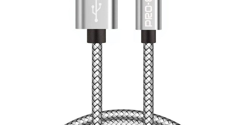 Câble Micro USB, Pro-E 2 m Câble Chargeur Micro USB blindé Nylon tressé