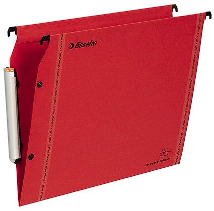 Lot of 25 hanging files Esselte LMG Fond V cupboards - Red Kraft