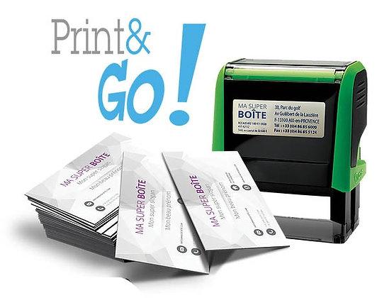 Vos cartes de visites et votre tampon, c'est le kit parfait pour démarrer votre activité !