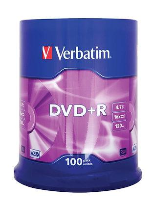 DVD + R Verbatim 16x 100-pack Optical Media