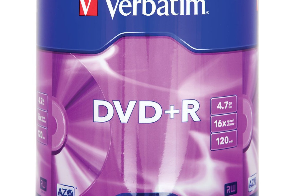 DVD+R Verbatim  16x 100-pack Optical Media