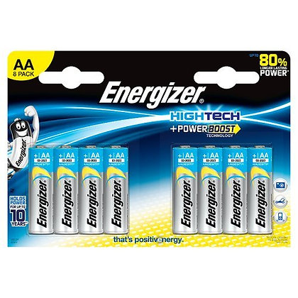 Energizer - Alkaline Battery - AA x 8 - Hightech (LR6)