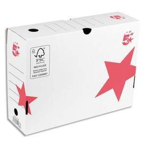 5 Stars ETL-930760 Archive box Back of 10 cm Automatic assembly White Kraft