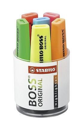 Stabilo BOSS original - Jar of 6 highlighters - Assorted colors