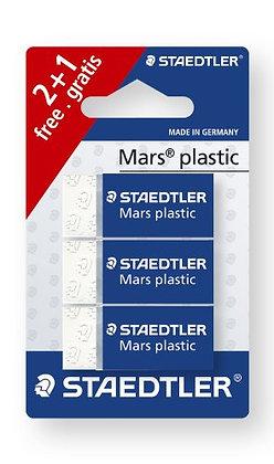 Staedtler - Mars Plastic 526 53 - 3 Eraser White Latex Blister by Staedt