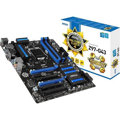 MSI Z97-G43 Intel ATX Intel Socket 1150 tarjeta madre
