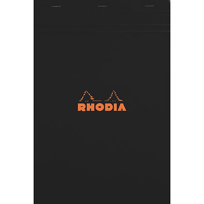 Rhodia n ° 18 - Block Bloc 80 Sheets detachable format 21 x 29.7 cm - black