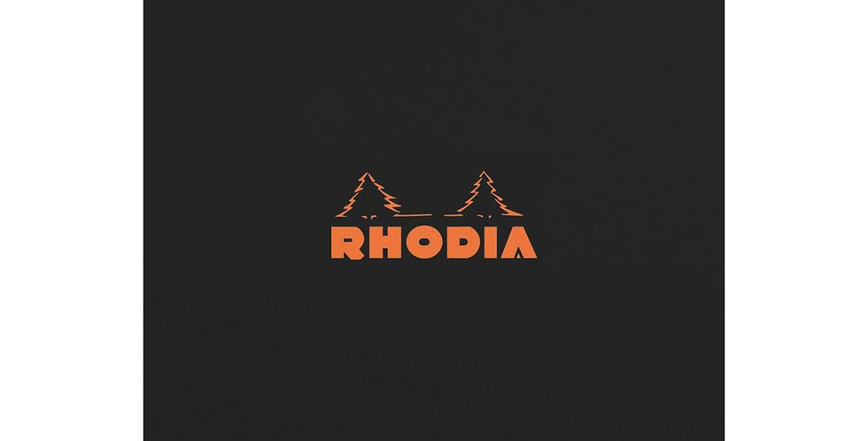 Rhodia n°18 -  Bloc Bloc 80 Feuilles détacha format 21 x 29,7 cm - noir