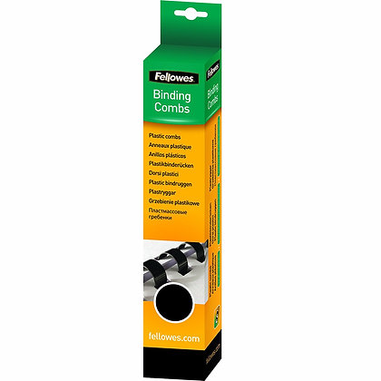 Fellowes 5345307 - Pack of 100 Plastic rings - 6 mm A4 - Black