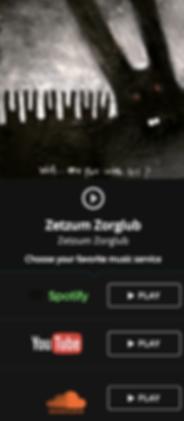 Zetzum Zorglub debut album wit artwork. Dark paiting. Horror