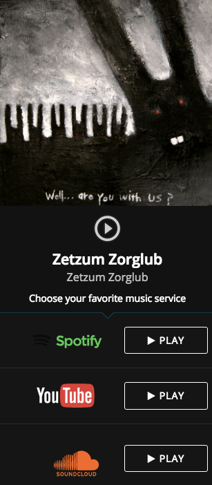 Zetzum Zorglub debut album wit artwork. Dark paiting. Horror