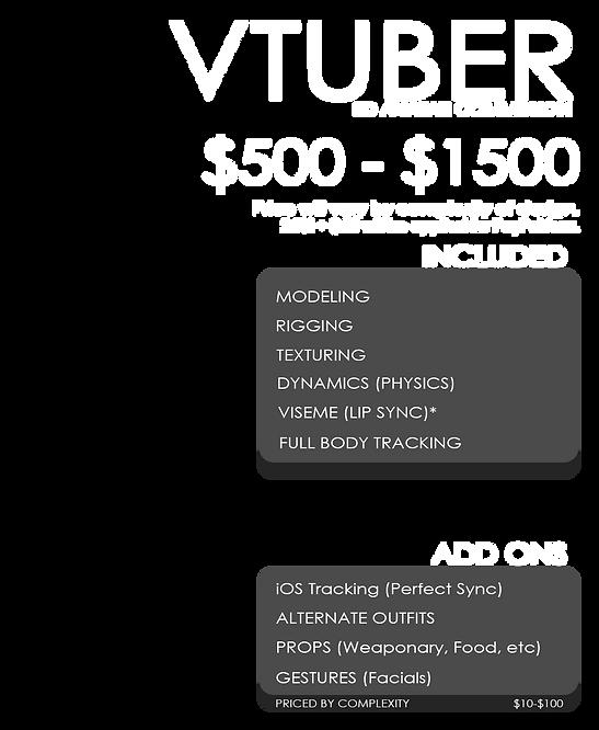 3D Vtuber Commission Information